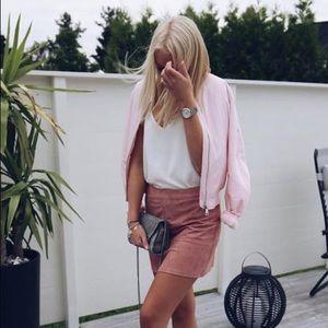 Lulu's Pink Mini Skirt
